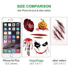power 106 halloween horror nights amazon com halloween temporary tattoos large u2013 7 sheets simulate
