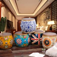 american classical ceramic wood drum stool ornaments boutique luxury