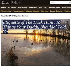 Duck Hunting Home Decor 10 Rules Of Duck Hunting Etiquette Threeriversduckclub Com