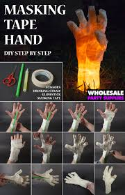 things to make for halloween decorations diy masking tape hand prop decoration tutorials and masking tape