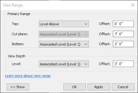 revit tutorial view range drafting in revit bim extension