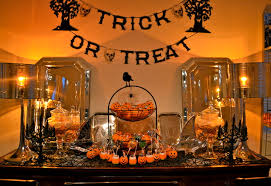 halloween decor contemporary dining room other