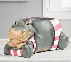 new country style hippo flower vase resin creative animal shape