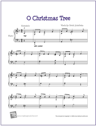 o christmas tree free printable sheet music printable sheet
