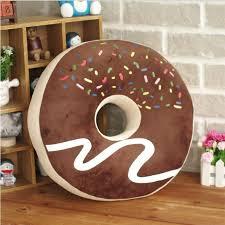 creative cute donut doughnut round nap seat cushion waist pillow