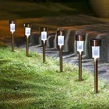 Stainless Steel Outdoor Lighting Sogrand 12pcs Pack Solar Lights Outdoor Stainless