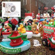 inflatable blower fan christmas decorations yard inflator outdoor