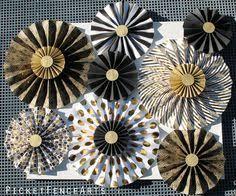 white paper fans black and white paper fans wedding ideas