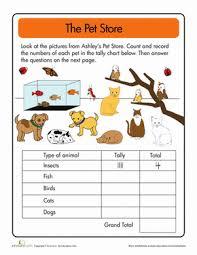 doing data the pet store tally worksheet education com