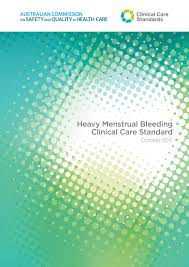 Health Care Services Australia Health Heavy Menstrual Bleeding Clinical Care Standard Safety And Quality