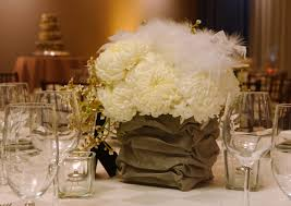 white ostrich feather centerpieces wedding centerpieces with flowers and feathers