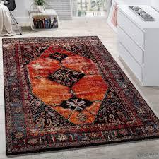 Wohnzimmer Orientalisch Designer Teppich Modern Kurzflor Orientalisch Design Mehrfarbig