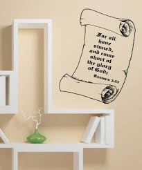 inspirational quotes wall decals inspirational wall stickers vinyl wall decal sticker romans 3 23 5391