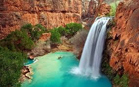 beatiful arizona waterfalls desktop wallpaper wallpaperpixel