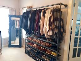 diy closet system built with pipe u0026 fittings plans included