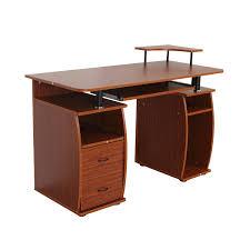 bureau pc meuble homcom bureau meuble informatique table d ordinateur pc avec 2