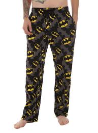 dc comics batman allover logos s pajama topic