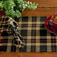 country kitchen table cambridge plaid placemat