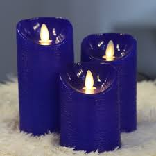 3 candle electric light 3 pcs thanksgiving moving wick flameless led electric pillar candles