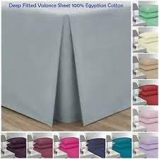 Fitted Valance Sheet 100 Egyptian Cotton Hotel Quality 26
