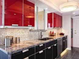 gorgeous red and grey kitchen cabinets for house decor inspiration