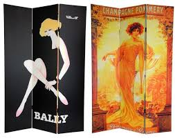 Vintage Room Divider by 6 Ft Tall Double Sided Vintage Women Canvas Room Divider