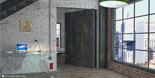 Metal Door Designs Raw Steel Single Door With Round Raw Steel Pulls Modern Steel Doors