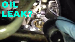 honda civic oil leak video youtube