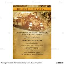 Invitation Cards Party Vintage Train Retirement Party Invitation Retirement Parties