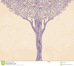 vintage illustration of a tree royalty free stock photos image