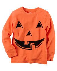 childrens halloween shirts long sleeve pumpkin face halloween tee carters com