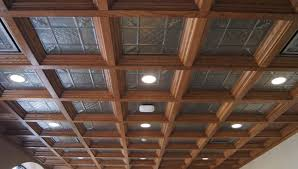 Beige Paint Ceiling Stunning Coffered Ceiling Design Idea With Rustic Black