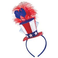 4th of july headbands 4th of july fascinator headband patriotic mini top hat