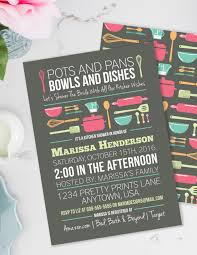 bridal shower invited stock the kitchen bridal shower invitation pots and pans