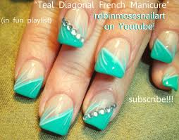 nail art designs easy teal mint nail art