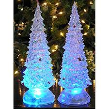 Christmas Tree With Blue Decorations - amazon com led lighted acrylic christmas trees holiday decoration