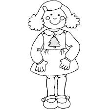Coloriage Fille  Les beaux dessins de Autres à imprimer et colorier