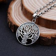 silver sterling pendant necklace images Men 39 s sterling silver tree of life pendant necklace jpg