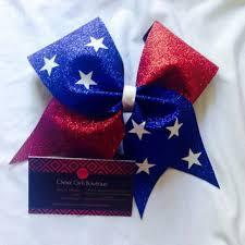 fourth of july hair bows best and white cheer bows products on wanelo
