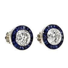 unique stud earrings best 25 sapphire stud earrings ideas on gold studs