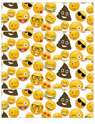 printable halloween bottle labels emoji water bottle labels free printable paper trail design