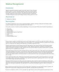sample medical resume sample medical receptionist resume sample