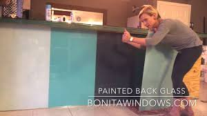 installing back painted glass youtube