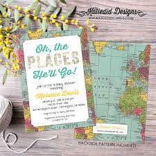 oh the places you ll go baby shower world map baby shower travel themed invitation oh the places you