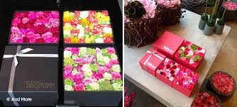flowers in a box diy flower pavé box inspired by a shop in tokyo more