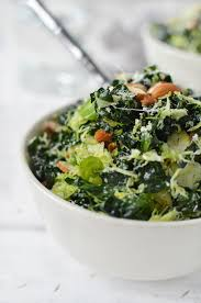 green salad for thanksgiving shredded brussels sprouts salad with toasted almonds delish
