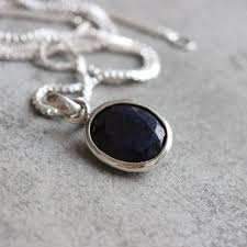 blue sapphire silver necklace images Buy dark blue sapphire silver necklace handmade silver jewelry jpg