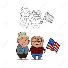 Flag Day Funny Happy Grandparents Day Grandma And Grandpa Holding Hands And