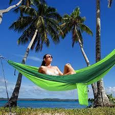 kootek green lightweight nylon parachute hammocks portable double