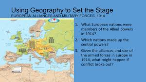World War I Alliances Map by World War I Chapter Ppt Video Online Download